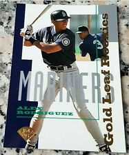 ALEX RODRIGUEZ LEAF GOLD SP #1 Draft Pick Rookie Card RC Yankees Champs 696 HRs