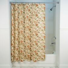 Farrell Natural Fabric Shower Curtain by Ellis Curtain, New Free Shipping