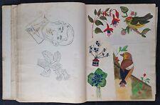 Antique Scrap Album c1920-30, Good Fashion Content, Caricatures, All Hand Drawn