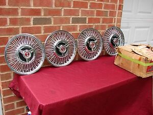 63 64 65 FORD FALCON SPRINT NOS 13 INCH WIRE SIMULATED HUBCAPS