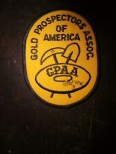 Vintage GOLD PROSPECTORS ASSOC Patch NEW! Great addition to your collection