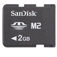 2x SanDisk Memory Stick Micro 2 GB