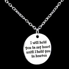 Hot Love I Will Hold You In My Heart Silver Chain Pendant Necklace Jewelry Gifts