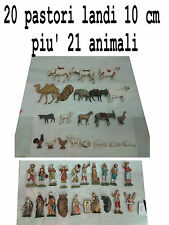 20 pastori landi 10 cm piu 21 animali moranduzzo presepe crib shepherds