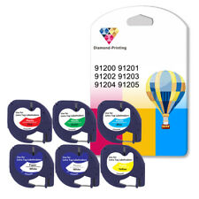 More details for compatible plastic letratag label tape for dymo 12 mm x 4m for lt100h, lt100t