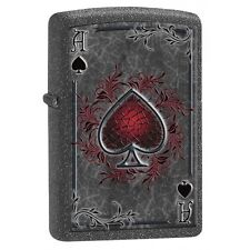 Ace of Spades Poker - Iron Stone ZIPPO LIGHTER 77151