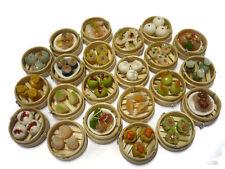 Set of 22 Dim Sum Chinese Cuisine Handmade Dollhouse Miniatures Food Deco
