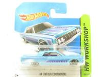 Hotwheels 64 Lincoln Continental Blue 208/250 BFD79 Short Card 1 64 Scale Sealed