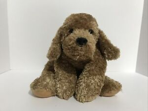"Princess Soft Toys Puppy Dog ""Duncan"" Floppy Brown Plush Plaid Bow 2003"