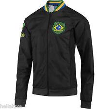 Adidas BRAZIL Track Top AOP World Cup jersey sweat shirt Jacket Brasil~Mens sz M