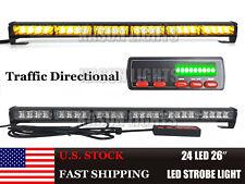 """26"""" 24 LED Amber LED Strobe Traffic Advisor Beacon Emergency Vehicles Light Bar"""