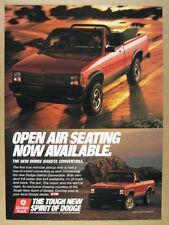 1989 Dodge Dakota Convertible Pickup Truck photo vintage print Ad