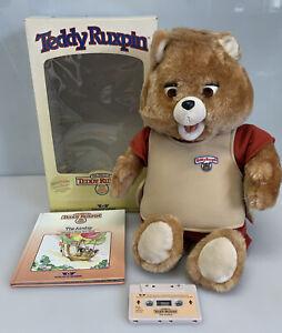 Teddy Ruxpin Worlds of Wonder Talking Bear w Box Airship Book & Tape 1985
