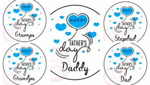 Happy Fathers Day Day Gramps Stickers Gift Box Sweet Cones Sweet Hamper Gift Bag