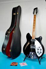 1989 Rickenbacker 360 12 String Jetglo Semi-hollow Body Electric Guitar USA