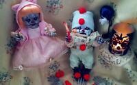 Horror Clown Dolls, OOAK Dolls, Collectors Dolls, Set Of Two