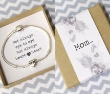 Silver Charm Bracelet Complete With Mom Charm And Gift Box! Mothers Day Gift!
