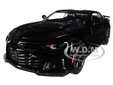 2017 CHEVROLET CAMARO ZL1 BLACK 1/24 DIECAST MODEL CAR BY MOTORMAX 79351
