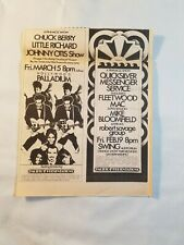 Vintage Ad Fleetwood Mac Chuck Berry Little Richard 1971 La Free Press Unframed