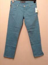 BNWT��Rock & Republic ��Blue Cropped Trousers Size 27 Aqualite Denim Jeans New10