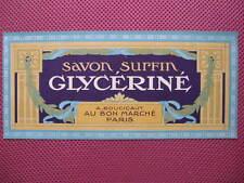 1 ANCIENNE ETIQUETTE DE SAVON /ANTIQUE SOAP LABEL FRENCH PARIS /SAPONE LABEL