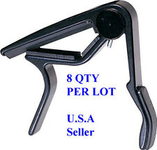 8-Lot Wholesale Guitar Trigger Capo Quick Change zinc alloy Black A105-(8 Lot)