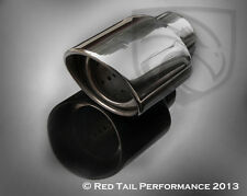 "Oval Exhaust Tip Resonated  4.5"" Audi A4 A6 A8 Volkswagen Passat Jetta Beetle VW"