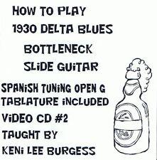 Bottleneck Slide Delta Blues Guitar CD 2 - video lessons - G Tuning Keni Lee
