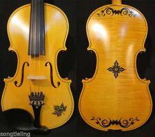 Strad style SONG Brand maestro 4/4 violin,,inlaid shell violin great deep #9742