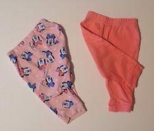 Bebé Niñas 3-6 meses X2 Disney at George Minnie Mouse Rosa Pijama Pantalones