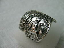 Sterling Silver spoon RING s 8 1/4 CHERUB Jewelry # 6680
