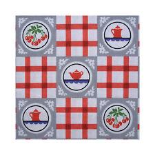 Japanese Linen Fabric Retro Kitchen Check Red FQ 1/4m
