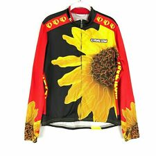 Pearl Izumi Cycling Jersey Size L Sunflower Thermal Long Sleeve Full Zip $200