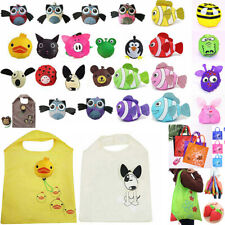 Cute Travel Foldable Handbag Grocery Tote Storage Reusable Animal Shopping Bags