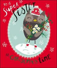 To A Super Sister Christmas Greeting Card Lovely Range Special Xmas Cards
