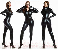 Sexy PVC Zip Overall Catsuit Costume Darque Gothic Teddy jumpsuit bandage DRESS