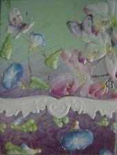 Carol Wilson Fine Arts Purse Embossed Note Pad Butterflies Magnetic 90 Sheets