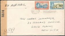 BAHAMAS, 1944. Censor 5574 Cover 106-07,  Nassau - White Plains