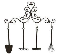 Rustic Metal Garden Tools Mini Hook Key Hanger Wall Ornament ~ Home Decor ~