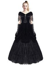 Vestido largo de mujer de color principal negro de poliéster