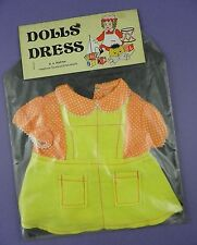 Vintage c1970s/80s Dolls Dress - Unused Old Shop Stock, B.A. Martin of Southend