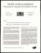 FRANCE ANKÜNDIGUNGSBLATT 1968 LUDWIG XIV AACHEN FLANDERN MINISTER SHEET R! zb98
