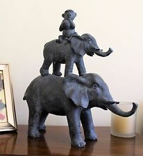 Elephant Monkey Home Furnishings Ornament Outdoor Indoor Statue Animals Decor