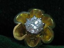 Clásica pendientes 585 Gold brillante diamantes Diamonds 0,3 CT Earrings