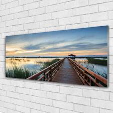 Tulup Glass print Wall art 125x50 Image Picture Bridge