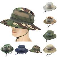 Eg _ Tactical Cappello Boonie Militare Camo Sacca Largo con Falda Sole Pesca