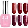 RS Nail Gel Nail Polish UV LED Varnish Soak Off Red Glitter Colours 15ml
