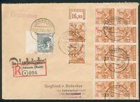 SBZ-Bezirkshandstempel, R-Brief mit Mi.-Nr.170,174, mit 37 Ludwigslust, pracht