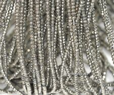 """3X2MM IRON PYRITE GEMSTONE GRADE AAA  FACETED RONDELLE 3X2MM LOOSE BEADS 15.5"""""""