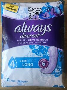 8 X 10 Always Discreet Panty Liners 4 Long 80 Pads Sealed